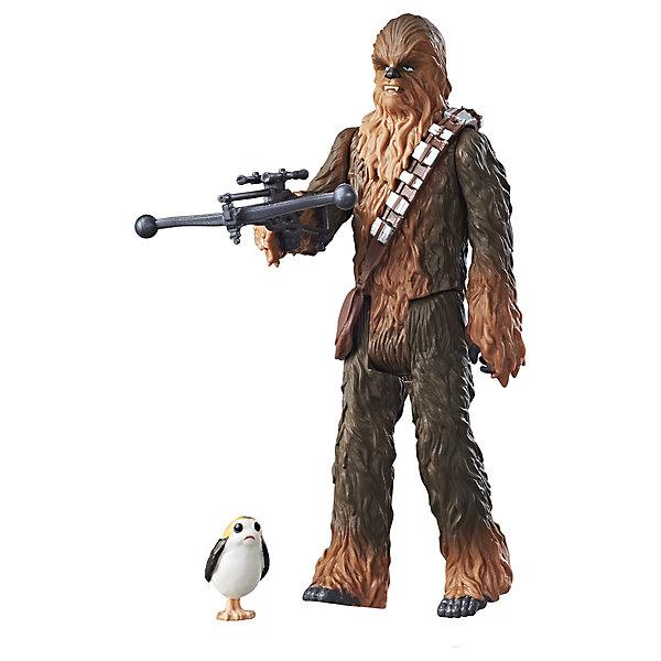 Фигурка с аксессуарами Hasbro Star Wars Эпизод 8 Чубакка, 9 смКоллекционные фигурки<br>Характеристики товара:<br><br>• возраст: от 4 лет;<br>• материал: пластик;<br>• в комплекте: фигурка, оружие, аксессуар;<br>• высота фигурки: 9 см;<br>• размер упаковки: 18,4х12,1х3,8 см;<br>• вес упаковки: 113 гр.;<br>• страна изготовитель: Китай.<br><br>Фигурка «Звездные войны» Hasbro создана по мотивам известной космической саги «Звездные войны. Эпизод 8». Она представляет собой одного из персонажей фильма, оснащенного своим мощным оружием. С фигуркой можно воспроизводить сценки из фильма или придумывать свои собственные сюжеты для игры. Игрушка выполнена из качественного пластика.<br><br>Фигурку «Звездные войны» Hasbro можно приобрести в нашем интернет-магазине.<br><br>Ширина мм: 38<br>Глубина мм: 121<br>Высота мм: 184<br>Вес г: 113<br>Возраст от месяцев: 96<br>Возраст до месяцев: 2147483647<br>Пол: Мужской<br>Возраст: Детский<br>SKU: 7230788