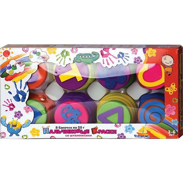 Пальчиковые краски ШТАМПИКИ,8цв. коробкаПальчиковые краски<br>Дети очень любят рисовать. А рисовать пальчиками это так интересно и полезно! Пальчиковые краски созданы с учетом возраста и совершенно безопасны для малышей. Рисуя пальчиками , дети развивают мелкую моторику и координацию. Яркие цвета красок развивают чувство цвета . В наборе также есть штампики, с помощью которых дети с удовольстивем наносят готовые рисунки на бумагу.Краски набора упакованы в удобных баночках из полимерных материалов.<br>Ширина мм: 280; Глубина мм: 75; Высота мм: 70; Вес г: 246; Возраст от месяцев: 36; Возраст до месяцев: 2147483647; Пол: Унисекс; Возраст: Детский; SKU: 7231009;