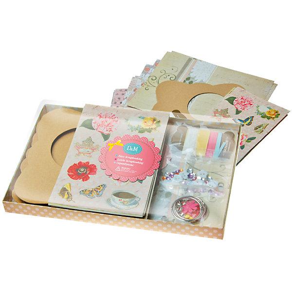 Купить Набор для скрапбукинга Цветы и бабочки , Делай с Мамой, Китай, Женский