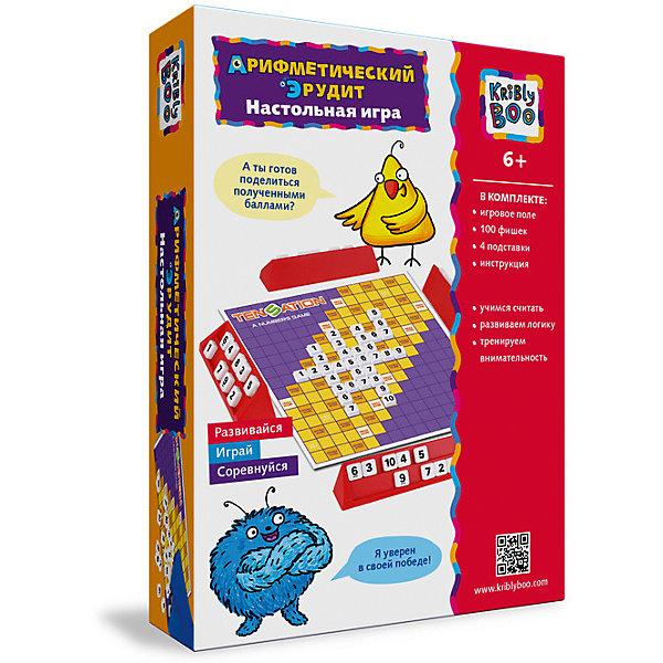 Настольная игра Арифметический ЭрудитНастольные игры для всей семьи<br>Настольная игра Арифметический эрудит  -  отличное занятие для детей, которые любят математические и логических головоломки. Здесь не надо составлять слова, нужно только знать цифры от 1 до 10.<br>Ширина мм: 250; Глубина мм: 150; Высота мм: 40; Вес г: 160; Возраст от месяцев: 72; Возраст до месяцев: 2147483647; Пол: Унисекс; Возраст: Детский; SKU: 7231071;