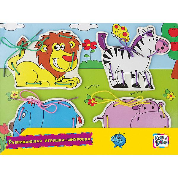 Развивающая игрушка-шнуровка АфрикаШнуровки<br>Еще в 19 веке ученые установили, что игры, в которых требуются точные мелкие движения кистями и пальцами рук, положительно влияют на развитие речевого аппарата ребенка. А яркие цвета игрушки помогают даже самым маленьким детям быстро воспринимать и запоминать новую информацию и тренировать зрение. Поэтому игрушка-шнуровка «Африка» от  Крибли Бу воплощает собой компактный и интересный тренажер для развития мелкой моторики, сенсорного восприятия и даже для обучения шнуровки обуви.<br>Ширина мм: 300; Глубина мм: 220; Высота мм: 1; Вес г: 250; Возраст от месяцев: 36; Возраст до месяцев: 2147483647; Пол: Унисекс; Возраст: Детский; SKU: 7231083;