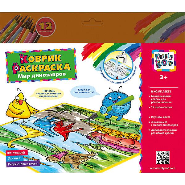 Купить Коврик- многоразовая раскраска Мир Динозавров, Kribly Boo, Китай, Унисекс