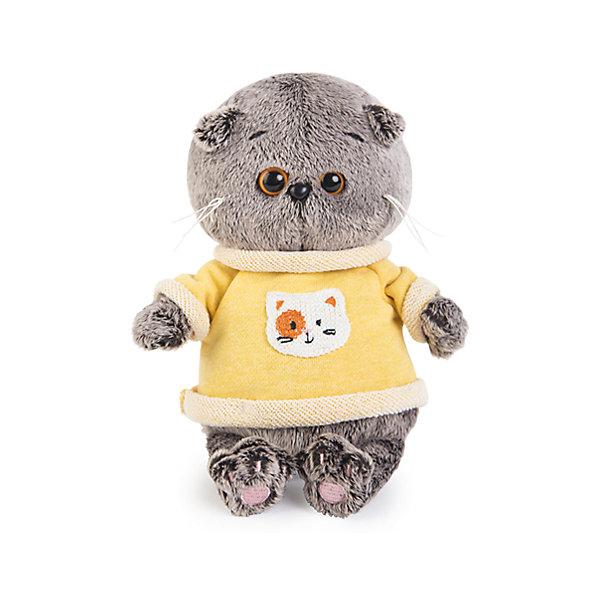 Басик BABY в толстовкеМягкие игрушки животные<br>Характеристики товара:<br><br>• возраст: от 3 лет;<br>• материал: текстиль, искусственный мех;<br>• высота игрушки: 20 см;<br>• размер упаковки: 22х15х11 см;<br>• вес упаковки: 320 гр.;<br>• страна производитель: Россия.<br><br>Мягкая игрушка «Басик Baby в толстовке» Budi Basa - очаровательный пушистый котенок с добрыми глазками. Басик еще совсем малыш. На нем одета толстовка с рисунком спереди. <br><br>Игрушка выполнена из качественного безопасного материала, настолько приятного и мягкого, что ребенок будет брать с собой котенка в кроватку и спать в обнимку.<br><br>Мягкую игрушку «Басик Baby втолстовке» Budi Basa можно приобрести в нашем интернет-магазине.<br><br>Ширина мм: 215<br>Глубина мм: 150<br>Высота мм: 110<br>Вес г: 320<br>Возраст от месяцев: 36<br>Возраст до месяцев: 168<br>Пол: Унисекс<br>Возраст: Детский<br>SKU: 7231216
