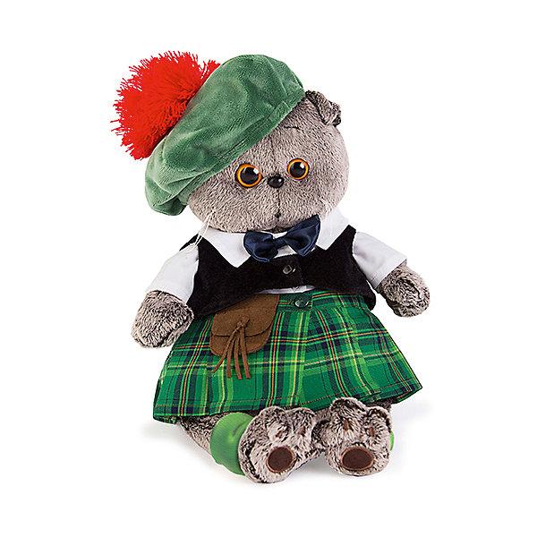 Басик в шотландском костюмеМягкие игрушки животные<br>Характеристики товара:<br><br>• возраст: от 3 лет;<br>• материал: текстиль, искусственный мех;<br>• высота игрушки: 25 см;<br>• размер упаковки: 27х14х16 см;<br>• вес упаковки: 483 гр.;<br>• страна производитель: Россия.<br><br>Мягкая игрушка «Басик в шотландском костюме» Budi Basa - очаровательный пушистый котенок с добрыми глазками. Басик одет в традиционный шотландский костюм: на нем зеленая юбка-килт, белая рубашка, черный жилет и зеленая шляпка. <br><br>Игрушка выполнена из качественного безопасного материала, настолько приятного и мягкого, что ребенок будет брать с собой котенка в кроватку и спать в обнимку.<br><br>Мягкую игрушку «Басик в шотландском костюме» Budi Basa можно приобрести в нашем интернет-магазине.<br><br>Ширина мм: 270<br>Глубина мм: 160<br>Высота мм: 140<br>Вес г: 483<br>Возраст от месяцев: 36<br>Возраст до месяцев: 168<br>Пол: Унисекс<br>Возраст: Детский<br>SKU: 7231230