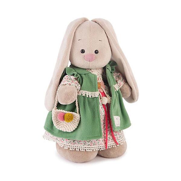 Зайка Ми Зеленая полынь (малая)Мягкие игрушки зайцы и кролики<br>Характеристики товара:<br><br>• возраст: от 3 лет;<br>• материал: текстиль, искусственный мех;<br>• высота игрушки: 25 см;<br>• размер упаковки: 31х16,5х13 см;<br>• вес упаковки: 410 гр.;<br>• страна производитель: Россия.<br><br>Мягкая игрушка «Зайка Ми Зеленая полынь» Budi Basa — очаровательный пушистый зайчонок с длинными ушками. На зайке платье зеленого цвета, а в лапке корзинка. Игрушка выполнена из качественного безопасного материала, настолько приятного и мягкого, что ребенок будет брать с собой зайку в кроватку и спать в обнимку.<br><br>Мягкую игрушку «Зайка Ми Зеленая полынь» Budi Basa можно приобрести в нашем интернет-магазине.<br>Ширина мм: 310; Глубина мм: 165; Высота мм: 130; Вес г: 410; Возраст от месяцев: 36; Возраст до месяцев: 168; Пол: Унисекс; Возраст: Детский; SKU: 7231240;