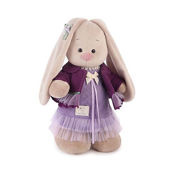 Зайка Ми Лаванда (малая)Мягкие игрушки зайцы и кролики<br>Характеристики товара:<br><br>• возраст: от 3 лет;<br>• материал: текстиль, искусственный мех;<br>• высота игрушки: 31 см;<br>• размер упаковки: 31х16,5х13 см;<br>• вес упаковки: 410 гр.;<br>• страна производитель: Россия.<br><br>Мягкая игрушка «Зайка Ми Лаванда» Budi Basa — очаровательный пушистый зайчонок с длинными ушками. На зайке сиреневое платье и фиолетовый жакет. Игрушка выполнена из качественного безопасного материала, настолько приятного и мягкого, что ребенок будет брать с собой зайку в кроватку и спать в обнимку.<br><br>Мягкую игрушку «Зайка Ми Лаванда» Budi Basa можно приобрести в нашем интернет-магазине.<br><br>Ширина мм: 310<br>Глубина мм: 165<br>Высота мм: 130<br>Вес г: 410<br>Возраст от месяцев: 36<br>Возраст до месяцев: 168<br>Пол: Унисекс<br>Возраст: Детский<br>SKU: 7231242