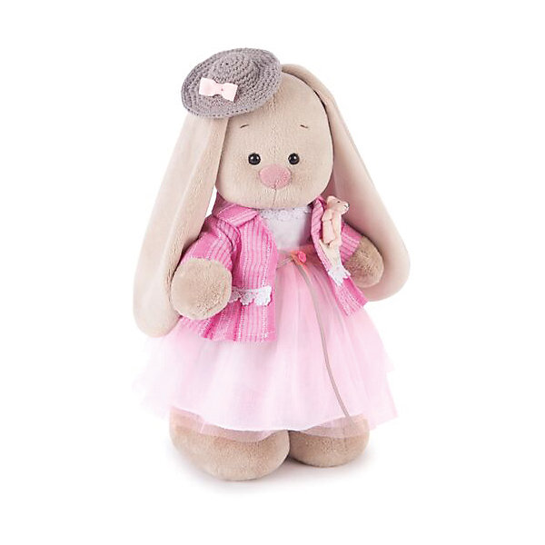 Зайка Ми Розовый бутон (малая)Мягкие игрушки зайцы и кролики<br>Характеристики товара:<br><br>• возраст: от 3 лет;<br>• материал: текстиль, искусственный мех;<br>• высота игрушки: 31 см;<br>• размер упаковки: 31х16,5х13 см;<br>• вес упаковки: 410 гр.;<br>• страна производитель: Россия.<br><br>Мягкая игрушка «Зайка Ми Розовый бутон» Budi Basa — очаровательный пушистый зайчонок с длинными ушками. На зайке розовое платье, а на голове милая шляпка. Игрушка выполнена из качественного безопасного материала, настолько приятного и мягкого, что ребенок будет брать с собой зайку в кроватку и спать в обнимку.<br><br>Мягкую игрушку «Зайка Ми Розовый бутон» Budi Basa можно приобрести в нашем интернет-магазине.<br><br>Ширина мм: 310<br>Глубина мм: 165<br>Высота мм: 130<br>Вес г: 410<br>Возраст от месяцев: 36<br>Возраст до месяцев: 168<br>Пол: Унисекс<br>Возраст: Детский<br>SKU: 7231243