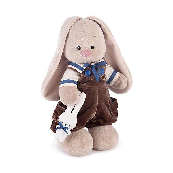 Зайка Ми Бархатный шоколад (малая)Мягкие игрушки животные<br>Характеристики товара:<br><br>• возраст: от 3 лет;<br>• материал: текстиль, искусственный мех;<br>• высота игрушки: 31 см;<br>• размер упаковки: 31х16,5х13 см;<br>• вес упаковки: 410 гр.;<br>• страна производитель: Россия.<br><br>Мягкая игрушка «Зайка Ми Бархатный шоколад» Budi Basa — очаровательный пушистый зайчонок с длинными ушками. На зайке штанишки из бархата шоколадного цвета, а в лапке малюсенький зайчик. Игрушка выполнена из качественного безопасного материала, настолько приятного и мягкого, что ребенок будет брать с собой зайку в кроватку и спать в обнимку.<br><br>Мягкую игрушку «Зайка Ми Бархатный шоколад» Budi Basa можно приобрести в нашем интернет-магазине.<br>Ширина мм: 310; Глубина мм: 165; Высота мм: 130; Вес г: 410; Возраст от месяцев: 36; Возраст до месяцев: 168; Пол: Унисекс; Возраст: Детский; SKU: 7231244;
