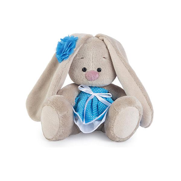 Зайка Ми  в голубом сарафанчике (малыш)Мягкие игрушки зайцы и кролики<br>Характеристики товара:<br><br>• возраст: от 3 лет;<br>• материал: текстиль, искусственный мех;<br>• высота игрушки: 13 см;<br>• размер упаковки: 13,5х13,5х13 см;<br>• вес упаковки: 210 гр.;<br>• страна производитель: Россия.<br><br>Мягкая игрушка «Зайка Ми в голубом сарафанчике» Budi Basa — очаровательный пушистый зайчонок с длинными ушками. На зайке милое голубое платице-сарафан, а на ушке милый цветок.  Игрушка выполнена из качественного безопасного материала, настолько приятного и мягкого, что ребенок будет брать с собой зайку на прогулку или в поездку.<br><br>Мягкую игрушку «Зайка Ми в голубом сарафанчике» Budi Basa можно приобрести в нашем интернет-магазине.<br>Ширина мм: 135; Глубина мм: 135; Высота мм: 130; Вес г: 210; Возраст от месяцев: 36; Возраст до месяцев: 168; Пол: Унисекс; Возраст: Детский; SKU: 7231246;