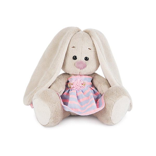 Зайка Ми  в платье в полоску (малыш)Мягкие игрушки зайцы и кролики<br>Характеристики товара:<br><br>• возраст: от 3 лет;<br>• материал: текстиль, искусственный мех;<br>• высота игрушки: 13 см;<br>• размер упаковки: 13,5х13,5х13 см;<br>• вес упаковки: 210 гр.;<br>• страна производитель: Россия.<br><br>Мягкая игрушка «Зайка Ми  в платье в полоску» Budi Basa — очаровательный пушистый зайчонок с длинными ушками. На зайке милое полосатое платице с бантиком. Игрушка выполнена из качественного безопасного материала, настолько приятного и мягкого, что ребенок будет брать с собой зайку на прогулку или в поездку.<br><br>Мягкую игрушку «Зайка Ми  в платье в полоску» Budi Basa можно приобрести в нашем интернет-магазине.<br>Ширина мм: 135; Глубина мм: 135; Высота мм: 130; Вес г: 210; Возраст от месяцев: 36; Возраст до месяцев: 168; Пол: Унисекс; Возраст: Детский; SKU: 7231248;