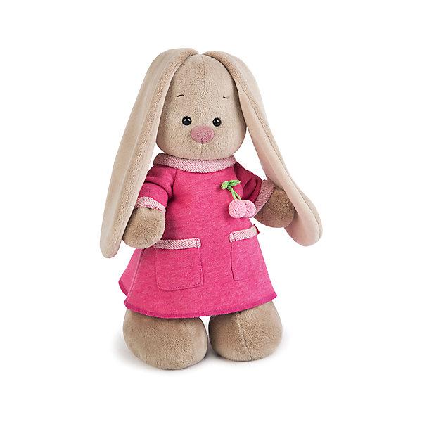 Зайка Ми  в розовом платье с вишенкой (малая)Мягкие игрушки зайцы и кролики<br>Характеристики товара:<br><br>• возраст: от 3 лет;<br>• материал: текстиль, искусственный мех;<br>• высота игрушки: 15 см;<br>• размер упаковки: 15х14х15 см;<br>• вес упаковки: 270 гр.;<br>• страна производитель: Россия.<br><br>Мягкая игрушка «Зайка Ми  в розовом платье с вишенкой» Budi Basa — очаровательный пушистый зайчонок с длинными ушками. На зайке милое розовое платице с двумя кармашками. Игрушка выполнена из качественного безопасного материала, настолько приятного и мягкого, что ребенок будет брать с собой зайку на прогулку или в поездку.<br><br>Мягкую игрушку «Зайка Ми  в розовом платье с вишенкой» Budi Basa можно приобрести в нашем интернет-магазине.<br><br>Ширина мм: 151<br>Глубина мм: 140<br>Высота мм: 150<br>Вес г: 270<br>Возраст от месяцев: 36<br>Возраст до месяцев: 168<br>Пол: Унисекс<br>Возраст: Детский<br>SKU: 7231249