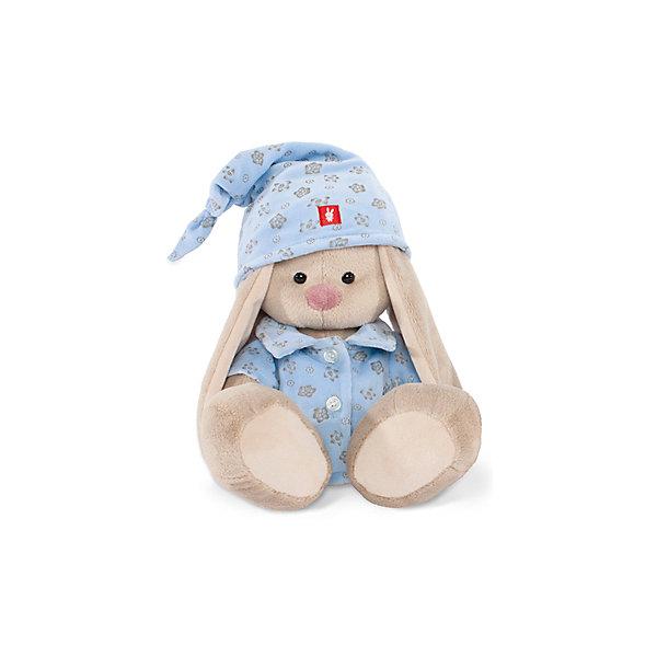 Игрушка мягконабивная Зайка Ми в голубой пижаме (малая)Мягкие игрушки зайцы и кролики<br>Характеристики товара:<br><br>• возраст: от 3 лет;<br>• материал: текстиль, искусственный мех;<br>• высота игрушки: 15 см;<br>• размер упаковки: 15х14х15 см;<br>• вес упаковки: 270 гр.;<br>• страна производитель: Россия.<br><br>Мягкая игрушка «Зайка Ми  в голубой пижаме» Budi Basa — очаровательный пушистый зайчонок с длинными ушками. На зайке ночной колпачок и пижамка голубого цвета. Игрушка выполнена из качественного безопасного материала, настолько приятного и мягкого, что ребенок будет брать с собой зайку в кроватку и спать в обнимку.<br><br>Мягкую игрушку «Зайка Ми  в голубой пижаме» Budi Basa можно приобрести в нашем интернет-магазине.<br><br>Ширина мм: 151<br>Глубина мм: 140<br>Высота мм: 150<br>Вес г: 270<br>Возраст от месяцев: 36<br>Возраст до месяцев: 168<br>Пол: Унисекс<br>Возраст: Детский<br>SKU: 7231251