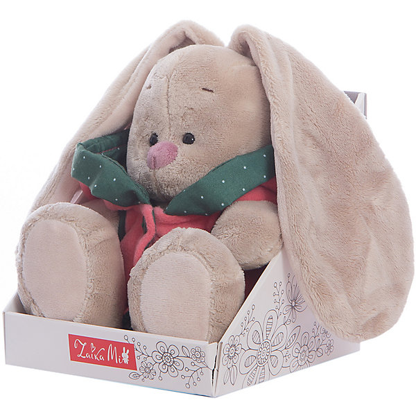 Игрушка мягконабивная Зайка Ми в куртке с капюшоном (малая)Мягкие игрушки зайцы и кролики<br>Характеристики товара:<br><br>• возраст: от 3 лет;<br>• материал: текстиль, искусственный мех;<br>• высота игрушки: 15 см;<br>• размер упаковки: 15х14х15 см;<br>• вес упаковки: 270 гр.;<br>• страна производитель: Россия.<br><br>Мягкая игрушка «Зайка Ми  в куртке с капюшоном» Budi Basa — очаровательный пушистый зайчонок с длинными ушками. На зайке красная куртка с огромным капюшоном. Игрушка выполнена из качественного безопасного материала, настолько приятного и мягкого, что ребенок будет брать ее с собой всегда на прогулку или в поездку.<br><br>Мягкую игрушку «Зайка Ми  в куртке с капюшоном» Budi Basa можно приобрести в нашем интернет-магазине.<br><br>Ширина мм: 151<br>Глубина мм: 140<br>Высота мм: 150<br>Вес г: 270<br>Возраст от месяцев: 36<br>Возраст до месяцев: 168<br>Пол: Унисекс<br>Возраст: Детский<br>SKU: 7231252