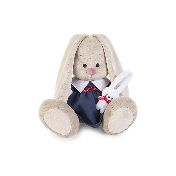 Игрушка мягконабивная Зайка Ми в синем платье с зайкой (малая)Мягкие игрушки животные<br>Характеристики товара:<br><br>• возраст: от 3 лет;<br>• материал: текстиль, искусственный мех;<br>• высота игрушки: 15 см;<br>• размер упаковки: 15х14х15 см;<br>• вес упаковки: 270 гр.;<br>• страна производитель: Россия.<br><br>Мягкая игрушка «Зайка Ми в синем платье с зайкой» Budi Basa — очаровательный пушистый зайчонок с длинными ушками. На зайке синее платице, а в лапках маленький зайчик. Игрушка выполнена из качественного безопасного материала, настолько приятного и мягкого, что ребенок будет брать с собой зайку в кроватку и спать в обнимку.<br><br>Мягкую игрушку «Зайка Ми в синем платье с зайкой» Budi Basa можно приобрести в нашем интернет-магазине.<br><br>Ширина мм: 151<br>Глубина мм: 140<br>Высота мм: 150<br>Вес г: 270<br>Возраст от месяцев: 36<br>Возраст до месяцев: 168<br>Пол: Унисекс<br>Возраст: Детский<br>SKU: 7231254