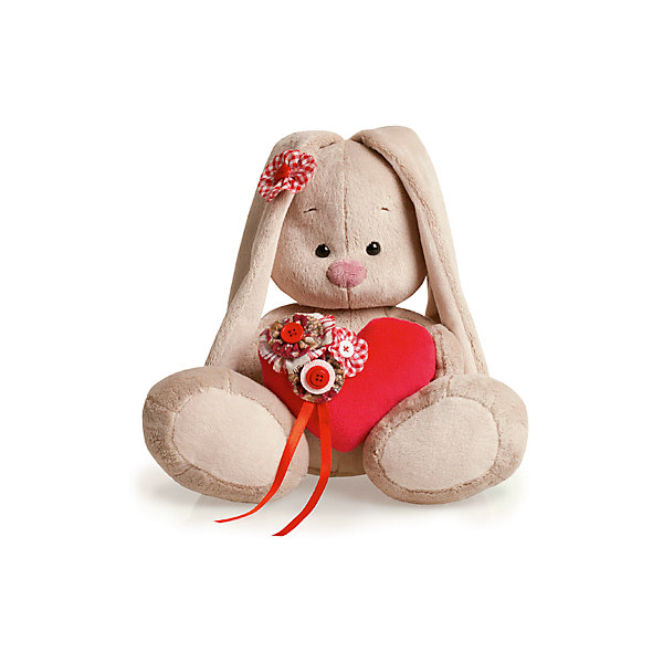 Игрушка мягконабивная Зайка Ми с сердечком (малая)Мягкие игрушки зайцы и кролики<br>Характеристики товара:<br><br>• возраст: от 3 лет;<br>• материал: текстиль, искусственный мех;<br>• высота игрушки: 15 см;<br>• размер упаковки: 15х14х15 см;<br>• вес упаковки: 270 гр.;<br>• страна производитель: Россия.<br><br>Мягкая игрушка «Зайка Ми с сердечком» Budi Basa — очаровательный пушистый зайчонок с длинными ушками. В лапках зайка держит мягкое сердечко, украшенное цветами, а на ушке красный цветочек. Игрушка выполнена из качественного безопасного материала, настолько приятного и мягкого, что ребенок будет брать с собой зайку в кроватку и спать в обнимку.<br><br>Мягкую игрушку «Зайка Ми с сердечком» Budi Basa можно приобрести в нашем интернет-магазине.<br>Ширина мм: 151; Глубина мм: 140; Высота мм: 150; Вес г: 270; Возраст от месяцев: 36; Возраст до месяцев: 168; Пол: Унисекс; Возраст: Детский; SKU: 7231259;