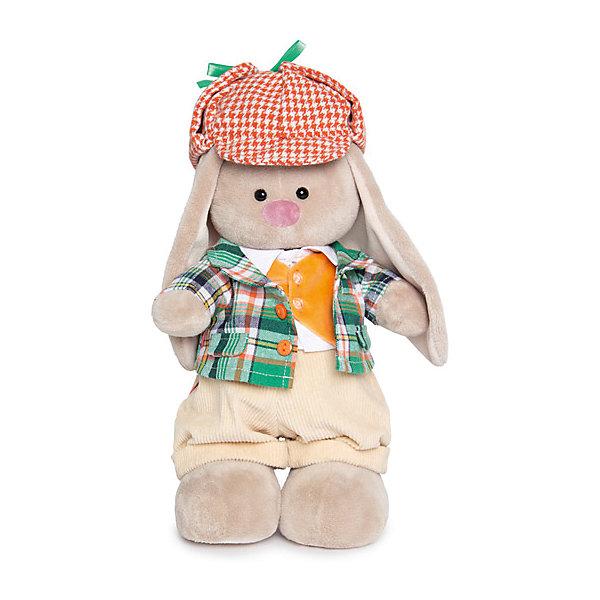 Мягкая игрушка Budi Basa Зайка Ми Честер, 25 смМягкие игрушки зайцы и кролики<br>Характеристики товара:<br><br>• возраст: от 3 лет;<br>• материал: текстиль, искусственный мех;<br>• высота игрушки: 25 см;<br>• размер упаковки: 31х14х13 см;<br>• вес упаковки:410 гр.;<br>• страна производитель: Россия.<br><br>Мягкая игрушка «Зайка Ми Честер» Budi Basa — очаровательный пушистый зайчонок с длинными ушками. Зайка Ми одета в клетчатые пиджак, оранжевый жилет, вельветовые штанишки и красную твидовую кепку. Игрушка выполнена из качественного безопасного материала, настолько приятного и мягкого, что ребенок будет брать с собой зайку в кроватку и спать в обнимку.<br><br>Мягкую игрушку «Зайка Ми Честер» Budi Basa можно приобрести в нашем интернет-магазине.<br><br>Ширина мм: 310<br>Глубина мм: 135<br>Высота мм: 130<br>Вес г: 410<br>Возраст от месяцев: 36<br>Возраст до месяцев: 168<br>Пол: Унисекс<br>Возраст: Детский<br>SKU: 7231260
