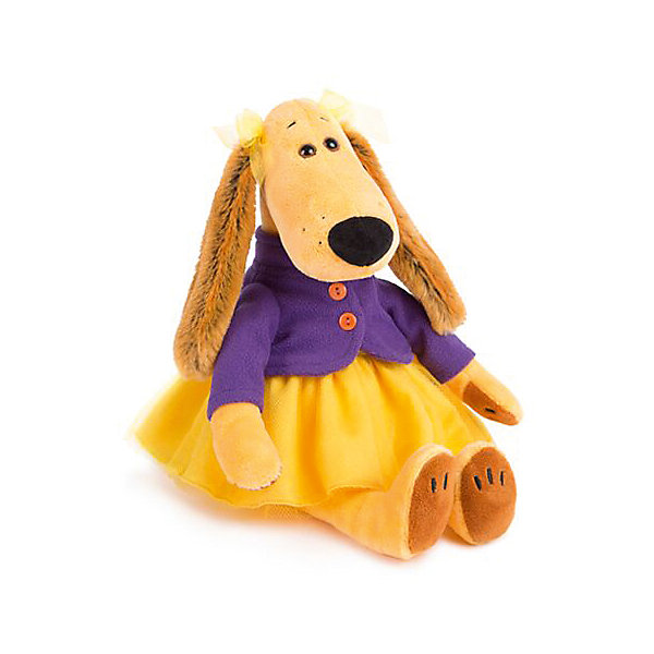 Мадмуазель ВиолеттаСимвол 2018 года: Собака<br>Характеристики товара:<br><br>• возраст: от 3 лет;<br>• материал: текстиль, искусственный мех;<br>• высота игрушки:25 см;<br>• размер упаковки: 25х12х13см;<br>• вес упаковки: 170 гр.;<br>• страна производитель: Россия.<br><br>Мягкая игрушка «Мадмуазель Виолетта» Budi Basa — очаровательная мягкая собачка с длинными ушками, большим носиком и добрыми глазами. Собака одета в милое фиолетово-желтое платье. Игрушка выполнена из качественного безопасного материала, настолько приятного и мягкого, что ребенок будет брать с собой собачку в кроватку и спать в обнимку.<br><br>Мягкую игрушку «Мадмуазель Виолетта» Budi Basa можно приобрести в нашем интернет-магазине.<br><br>Ширина мм: 120<br>Глубина мм: 130<br>Высота мм: 250<br>Вес г: 170<br>Возраст от месяцев: 36<br>Возраст до месяцев: 168<br>Пол: Унисекс<br>Возраст: Детский<br>SKU: 7231266