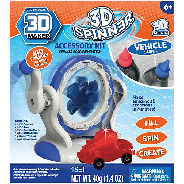 Набор формочек 3D Magic 3D Maker, МашинкиПластик для 3D ручек<br>2 шт - 3D гель (красный, голубой), 1 шт - формочка машинки, 1 шт - формочка грузовика с кузовом, 1 – лист с формочками нижней части машинки, 6 шт – наборов колес для машинок, инструкция. Для использования с артикулом 81000 (продаётся отдельно).<br>Ширина мм: 50; Глубина мм: 180; Высота мм: 230; Вес г: 1710; Возраст от месяцев: 72; Возраст до месяцев: 2147483647; Пол: Унисекс; Возраст: Детский; SKU: 7231336;