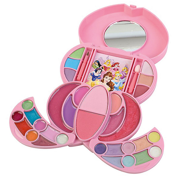Игровой набор Markwins Disney Princess Декоративная косметика Шкатулка (для лица)Наборы детской косметики<br>Состав набора: палитра теней для век из 6 оттенков, палитра блесков для губ из 15 оттенков, румяна 2 оттенка, палитра кремовых теней для век из 9 оттенков, зеркало 1 шт., кисть 1 шт., аппликатор 1 шт.<br><br>Ширина мм: 40<br>Глубина мм: 270<br>Высота мм: 350<br>Вес г: 471<br>Возраст от месяцев: 36<br>Возраст до месяцев: 2147483647<br>Пол: Женский<br>Возраст: Детский<br>SKU: 7231356