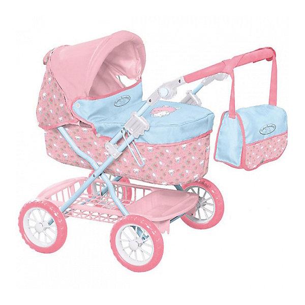 Игрушка Baby Annabell Коляска делюкс с сумкой, 2017, кор.Транспорт и коляски для кукол<br>Характеристики товара:<br><br>• возраст: от 3 лет;<br>• цвет: розово- голубой;<br>• пол: девочка;<br>• из чего сделана игрушка (состав): пластик, металл, текстиль;<br>• размер упаковки: 62х44х14 см.;<br>• упаковкака: картонная коробка;<br>• размер коляски: 66х42х68 см;<br>• комплект: коляска, сумка;<br>• подходящая высота кукол: 46 см;<br>• максимальная высота ручки: 74 см.;<br>• вес: 3,6 кг.;<br>• страна обладатель бренда: Германия.<br><br>Коляска для кукол Baby Annabell от бренда Zapf Creation дополнена удобной сумкой. Данная шикарная коляска приведет в восторг любую девочку. Она исполнена в потрясающе реалистичном дизайне и красивой расцветке. У коляски глубокая люлька, складной капюшон, вместительная корзина и удобная ручка. Теперь девочка может отправиться на прогулку со своей любимой куклой, словно настоящая мама. Коляска имеет прочную, но легкую конструкцию, в сложенном виде она не занимает много места при перевозке или хранении.<br><br>Коляску делюкс с сумкой от бренда Zapf Creation Baby Annabell, 2017 можно купить в нашем интернет-магазине.<br>Ширина мм: 135; Глубина мм: 435; Высота мм: 620; Вес г: 3675; Возраст от месяцев: 36; Возраст до месяцев: 2147483647; Пол: Женский; Возраст: Детский; SKU: 7231386;
