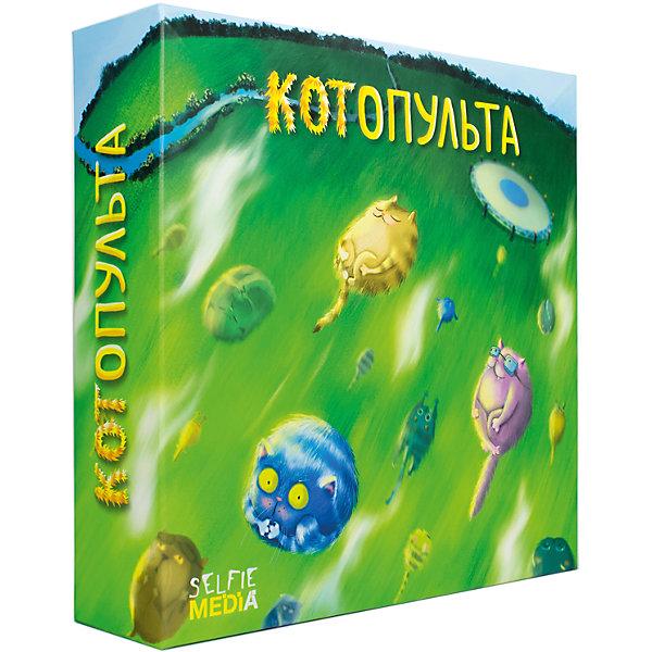 Настольная игра КотопультаНастольные игры для всей семьи<br>Характеристики товара:<br><br>• возраст: от 3 лет;<br>• материал: картон, бумага;<br>• в комплекте: 36 «котов» 4 расцветок,4 игрового поля,4 катапульты,4 синих стаканчиков,10 желтых стаканчиков;<br>• размер упаковки: 8х3х30 см;<br>• упаковка: картонная коробка;<br>• вес упаковки: 350 гр.;<br>• страна производитель: Россия.<br><br>Если вы задумались, как весело и с пользой провести время со своими детьми дома, тогда вот «Котопульта» – новая забавная игра для всей семьи. Игрокам необходимо при помощи катапульт забросить своих «котов» в стаканчики. Если в свой ход игроку удается забросить кота, то он заберет себе этот стаканчик и поставит его на свое игровое поле. Победителем станет тот, кто заберет на свое поле 6 стаканчиков с котами.  <br><br>Игра рекомендуется для взрослых и детей от 3 лет. <br>В игре могут принимать участие от 2 до 4 человек. По времени игровая партия длится от 10 минут. <br><br>Настольную игру «Котопульта» можно приобрести в нашем интернет-магазине.<br>Ширина мм: 80; Глубина мм: 300; Высота мм: 300; Вес г: 350; Возраст от месяцев: 36; Возраст до месяцев: 96; Пол: Унисекс; Возраст: Детский; SKU: 7232888;