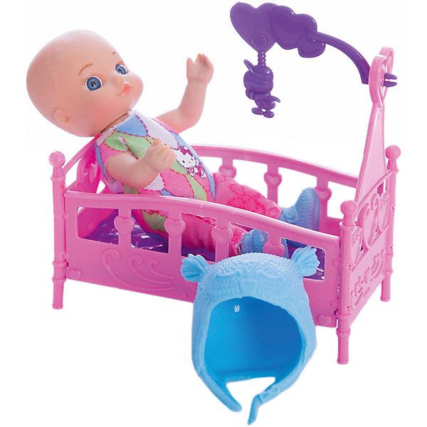 Кукла  HELLO KITTY 12 см,без звука, с аксессуарами.Hello Kitty<br>Характеристики товара:<br><br>• в комплекте: кукла, аксессуары;<br>• высота куклы: 12 см;<br>• возраст: от 3 лет;<br>• материал: пластик;<br>• размер упаковки: 7х12х13 см;<br>• страна бренда: Россия.<br><br>Маленькая кукла Машенька выглядит очень мило и реалистично. У игрушки очень выразительные глазки, пухлые щечки и младенческие черты лица. Машенька одета в красивое розовое платье и голубую шапочку. В комплект входит кроватка с мобилем. Руки и ноги можно двигать для придания нужной позы. Игра с куклой поможет развить мелкую моторику, воображение, а также чувства заботы и ответственности.<br><br>Куклу «Hello Kitty» (Хелло Китти) 12 см, без звука, с аксессуарами, Карапуз можно купить в нашем интернет-магазине.<br>Ширина мм: 60; Глубина мм: 20; Высота мм: 120; Вес г: 140; Возраст от месяцев: 36; Возраст до месяцев: 84; Пол: Унисекс; Возраст: Детский; SKU: 7233173;