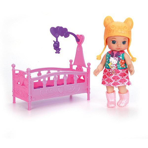 Кукла HELLO KITTY 12 см, без звука , с аксессуарами.Бренды кукол<br>Характеристики товара:<br><br>• в комплекте: кукла, аксессуары;<br>• высота куклы: 12 см;<br>• возраст: от 3 лет;<br>• материал: пластик;<br>• размер упаковки: 7х12х13 см;<br>• страна бренда: Россия.<br><br>Маленькая кукла Машенька выглядит очень мило и реалистично. У игрушки очень выразительные глазки, пухлые щечки и младенческие черты лица. Машенька одета в красивое розовое платье и желтую шапочку. В комплект входит кроватка с мобилем. Руки и ноги можно двигать для придания нужной позы. Игра с куклой поможет развить мелкую моторику, воображение, а также чувства заботы и ответственности.<br><br>Куклу «Hello Kitty» (Хелло Китти) 12 см, без звука, с аксессуарами, Карапуз можно купить в нашем интернет-магазине.<br>Ширина мм: 60; Глубина мм: 20; Высота мм: 120; Вес г: 140; Возраст от месяцев: 36; Возраст до месяцев: 84; Пол: Унисекс; Возраст: Детский; SKU: 7233174;