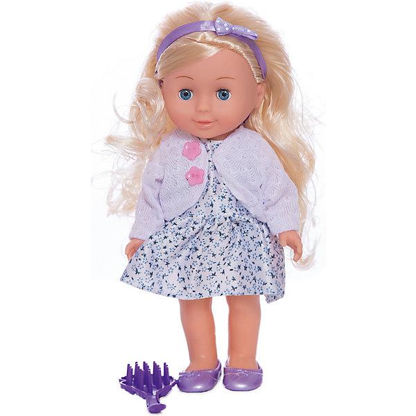 Кукла 25 см,озвученная, руссифифированная, с набором одежды.Куклы<br>Характеристики товара:<br><br>• в комплекте: кукла, одежда;<br>• высота куклы: 25 см;<br>• возраст: от 3 лет;<br>• материал: пластик, текстиль;<br>• батарейки: АА - 3 шт. (в комплекте);<br>• размер упаковки: 8х27х19 см;<br>• страна бренда: Россия.<br><br>Кукла Полина выглядит очень красиво и реалистично. Кукла высотой 25 сантиметров имеет роскошные длинные волосы, пухлые щечки и выразительные черты лица. Руками и ногами куклы можно двигать для придания нужной позы. Если нажать Полине на животик, она начнет петь песню или рассказывать стихотворения Агнии Барто. Кукла одета в светлое платье, белую кофточку, фиолетовые туфельки. Голову Полины украшает повязка в тон обуви. В комплект входит сменная одежда и аксессуары для куклы.<br><br>Куклу 25 см, озвученную, русифицированную, с набором одежды, Карапуз можно купить в нашем интернет-магазине.<br>Ширина мм: 90; Глубина мм: 40; Высота мм: 250; Вес г: 380; Возраст от месяцев: 36; Возраст до месяцев: 84; Пол: Унисекс; Возраст: Детский; SKU: 7233176;