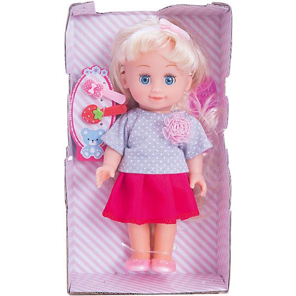 Кукла 20 см , твердое твердое тело, без звука .Куклы<br>Характеристики товара:<br><br>• в комплекте: кукла, аксессуары;<br>• высота куклы: 20 см;<br>• возраст: от 3 лет;<br>• материал: пластик, текстиль;<br>• размер упаковки: 20х40х30 см;<br>• страна бренда: Россия.<br><br>Кукла Полина от бренда Карапуз имеет очень реалистичные черты лица, длинные волосы и большие выразительные глазки. Кукла одета в серо-красное платье с крупной декоративной розой. На ногах куклы - розовые сандалики, а на голове - повязка. Руки и ноги куклы подвижны, поэтому девочка без труда сможет придать игрушке нужную позу. Если девочка уложит куклу спать, то она реалистично закроет свои глазки. С помощью расчески и заколок, входящих в комплект можно расчесать волосы и создать красивую прическу.<br><br>Куклу 20 см , твердое  тело, без звука, Карапуз можно купить в нашем интернет-магазине.<br>Ширина мм: 70; Глубина мм: 40; Высота мм: 200; Вес г: 240; Возраст от месяцев: 36; Возраст до месяцев: 84; Пол: Унисекс; Возраст: Детский; SKU: 7233177;