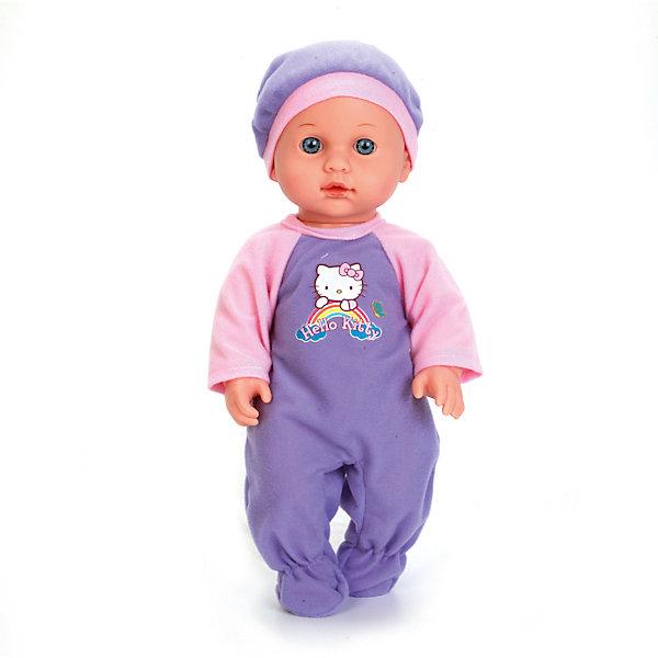 Пупс HELLO KITTY 30 см, 3 функции, пьет и писает , с аксессуарами.Куклы<br>Характеристики товара:<br><br>• в комплекте: кукла, одежда, аксессуары;<br>• высота куклы: 30 см;<br>• возраст: от 3 лет;<br>• материал: пластик, текстиль;<br>• батарейки: LR41 - 3 шт. (в комплекте);<br>• размер упаковки: 10х21х33 см;<br>• страна бренда: Россия.<br><br>Пупс Карапуз отлично подойдет для игры в дочки-матери. Девочка сможет искупать пупса, накормить и даже посадить на горшок. В комплект входит специальная бутылочка для кормления, слюнявчик и горшок. Во время игры пупс очень реалистично пьет, писает и плачет, чтобы девочка смогла почувствовать себя настоящей мамочкой. Пупс выполнен в виде розовощекого малыша, одет в комбинезон и беретик, выполненные в розовом и фиолетовом цветах. На комбинезоне пупса расположен рисунок Hello Kitty.<br><br>Пупса «Hello Kitty» (Хелло Китти) 30 см, 3 функции, пьет и писает , с аксессуарами, Карапуз можно купить в нашем интернет-магазине.<br>Ширина мм: 60; Глубина мм: 50; Высота мм: 300; Вес г: 620; Возраст от месяцев: 36; Возраст до месяцев: 84; Пол: Унисекс; Возраст: Детский; SKU: 7233181;