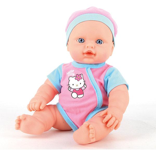 Пупс  HELLO KITTY 30 см, пьет, писает, музыкальный горшок.Куклы<br>Характеристики товара:<br><br>• в комплекте: кукла, одежда, аксессуары;<br>• высота куклы: 30 см;<br>• возраст: от 3 лет;<br>• материал: пластик, текстиль;<br>• батарейки: LR41 - 3 шт. (в комплекте);<br>• размер упаковки: 10х21х33 см;<br>• страна бренда: Россия.<br><br>Пупс Hello Kitty порадует каждую заботливую девочку. Пупс имеет реалистичные черты лица, пухлые щечки и большие красивые глаза. Игрушка оснащена набором функций: пупс умеет пить из бутылочки, писать, его можно купать. Девочка сможет искупать малыша покормить его из специальной бутылочки и посадить на горшок. Когда пупс писает, горшок создает световые и звуковые эффекты. Малыш одет в боди и шапочку, выполненные в розовом и голубом цветах. На груди есть рисунок с кошечкой Hello Kitty.<br><br>Пупса «Hello Kitty» (Хелло Китти) 30 см, пьет, писает, музыкальный горшок, Карапуз можно купить в нашем интернет-магазине.<br>Ширина мм: 120; Глубина мм: 60; Высота мм: 300; Вес г: 900; Возраст от месяцев: 36; Возраст до месяцев: 84; Пол: Унисекс; Возраст: Детский; SKU: 7233183;