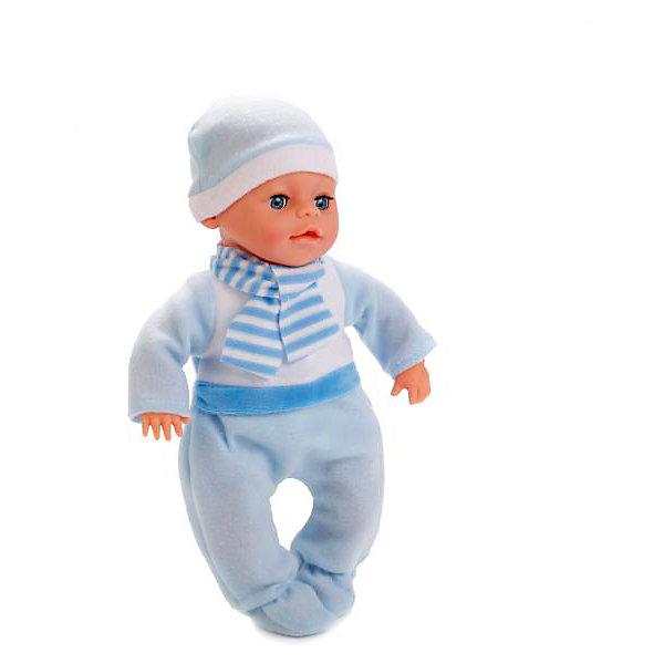 Пупс HELLO KITTY 30 см, озвученный, мягкое тело.Популярные игрушки<br>Интерактивная кукла-пупс Hello Kitty от компании Карапуз похожа на настоящего ребенка и работает на батарейках. Она имеет мягкое тело и русскую озвучку. Игрушка умеет смеяться и плакать, и также произносит 30 разных звуков. Кукла одета в яркий теплый комбинезон и шапочку. В наборе также имеется свидетельство малыша. Детали комплекта изготовлены из прочного пластика и сшиты из мягкого текстиля. Рекомендовано детям от 3-х лет.<br><br>Ширина мм: 120<br>Глубина мм: 60<br>Высота мм: 300<br>Вес г: 650<br>Возраст от месяцев: 36<br>Возраст до месяцев: 84<br>Пол: Унисекс<br>Возраст: Детский<br>SKU: 7233194