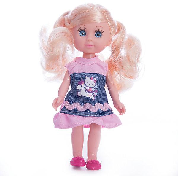 Кукла  Машенька 15 см, пластиковые глаза, без звука.Куклы<br>Кукла Машенька станет хорошей подружкой любой девочке. У нее огромные выразительные глаза небесно-голубого цвета с ресничками. У куклы изящная фигура, она одета в модное платьице. У нее также двигаются ручки и ножки, поэтому ее можно посадить на кресло или диван. С Машенькой можно придумать множество сюжетов игры: кукла может жить беззаботной жизнью модницы или стать умницей-дочкой для девочки в сюжетно-ролевой игре.<br><br>Ширина мм: 40<br>Глубина мм: 30<br>Высота мм: 150<br>Вес г: 130<br>Возраст от месяцев: 36<br>Возраст до месяцев: 84<br>Пол: Унисекс<br>Возраст: Детский<br>SKU: 7233199