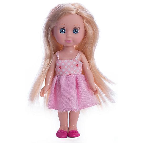 Кукла  Машенька 15 см, пластиковые глаза, без звука.Куклы<br>Кукла Машенька станет хорошей подружкой любой девочке. У нее огромные выразительные глаза небесно-голубого цвета с ресничками. У куклы изящная фигура, она одета в модное платьице. У нее также двигаются ручки и ножки, поэтому ее можно посадить на кресло или диван. С Машенькой можно придумать множество сюжетов игры: кукла может жить беззаботной жизнью модницы или стать умницей-дочкой для девочки в сюжетно-ролевой игре.<br><br>Ширина мм: 40<br>Глубина мм: 30<br>Высота мм: 150<br>Вес г: 130<br>Возраст от месяцев: 36<br>Возраст до месяцев: 84<br>Пол: Унисекс<br>Возраст: Детский<br>SKU: 7233200