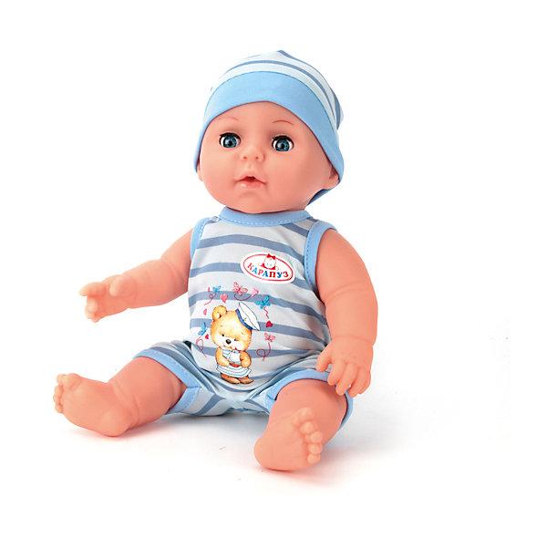 Пупс 30 см, 3 функции , пьет и писает, закрывает глазки , с аксессуарами.Куклы<br>Характеристики товара:<br><br>• в комплекте: кукла, соска, бутылочка, горшок, свидетельство;<br>• высота куклы: 30 см;<br>• возраст: от 3 лет;<br>• размер упаковки: 15х29х27 см;<br>• материал: пластик, текстиль;<br>• страна бренда: Россия.<br><br>Интерактивный пупс Карапуз порадует девочку своей реалистичностью. Пупс имеет черты лица, похожие на настоящего малыша. К тому же, интерактивная кукла умеет закрывать глазки, пить и писать в горшок. В комплект входят аксессуары, необходимые для заботы о малыше. Чтобы пупс мог писать, необходимо напоить его водичкой из бутылочки, входящей в комплект. <br><br>Ручки и ножки куклы подвижны для придания позы, подходящей для игры. Девочка сможет придумать имя для своего Карапуза и вписать его в свидетельство о рождении. Чтобы малыш закрыл глазки, можно положить его в кровать или убаюкать на ручках. Пупс одет в голубой песочник с аппликацией и шапочку в тон.<br><br>Пупса 30 см, 3 функции , пьет и писает, закрывает глазки , с аксессуарами, Карапуз можно купить в нашем интернет-магазине.<br><br>Ширина мм: 130<br>Глубина мм: 70<br>Высота мм: 300<br>Вес г: 800<br>Возраст от месяцев: 36<br>Возраст до месяцев: 84<br>Пол: Унисекс<br>Возраст: Детский<br>SKU: 7233213
