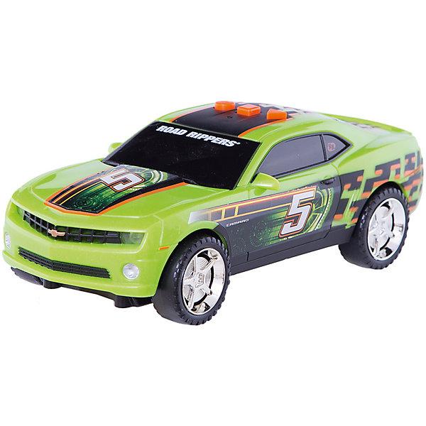 Машина TOYSTATE на батарейках со светом и звуком.Машинки<br>Характеристики товара:<br><br>• размер игрушки: 21 см;<br>• возраст: от 3 лет;<br>• материал: пластик;<br>• батарейки: АА - 3 шт. (в комплекте);<br>• размер упаковки: 25х13 см;<br>• страна бренда: США.<br><br>Яркая гоночная машинка отлично дополнит автопарк юного гонщика. Игрушка выглядит очень реалистично. Машинка умеет ездить вперед, светить фарами, издавать реалистичные звуки и даже произносить некоторые фразы. В первом варианте использования машинка едет вперед, издает звуки и светит фарами. Во втором варианте - работают световые и звуковые эффекты. В третьем варианте - только звук двигателя и звуковые эффекты. Таким образом, ребенок сам сможет управлять автомобилем под звуковое сопровождение.<br><br>Машину Toystate (Тойстейт) на батарейках со светом и звуком можно купить в нашем интернет-магазине.<br>Ширина мм: 210; Глубина мм: 80; Высота мм: 90; Вес г: 480; Возраст от месяцев: 36; Возраст до месяцев: 84; Пол: Унисекс; Возраст: Детский; SKU: 7233219;