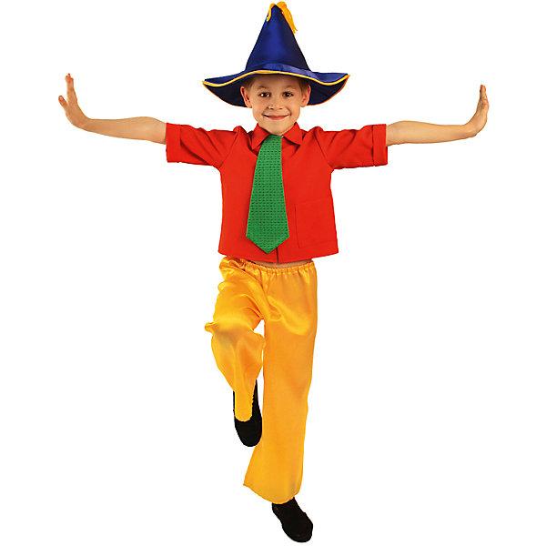НезнайкаНовинки для праздника<br>Рубашка, галстук, брюки, шляпа; состав: <br>Габардин (100% полиэстер)<br>Крепсатин (100% полиэстер)<br>Ширина мм: 450; Глубина мм: 80; Высота мм: 350; Вес г: 250; Возраст от месяцев: 60; Возраст до месяцев: 72; Пол: Мужской; Возраст: Детский; Размер: 116; SKU: 7234469;
