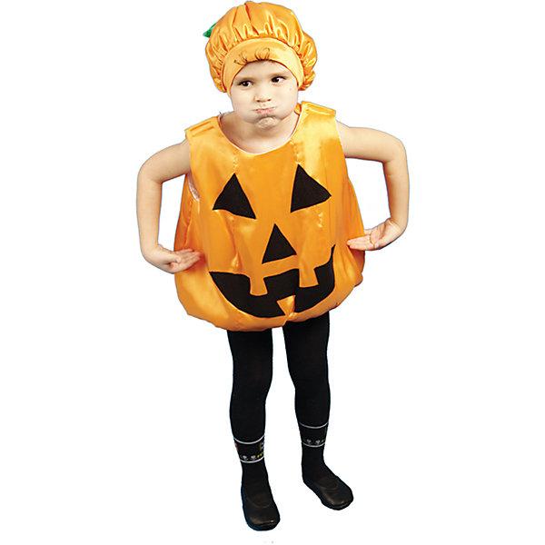 Тыква HalloweenНовинки для праздника<br>Шапочка, комбинезон; состав: <br>Крепсатин (100% полиэстер)<br>Синтепон (100% полиэстер)<br>Бязь (100% хлопок)<br><br>Ширина мм: 450<br>Глубина мм: 80<br>Высота мм: 350<br>Вес г: 250<br>Возраст от месяцев: 36<br>Возраст до месяцев: 48<br>Пол: Унисекс<br>Возраст: Детский<br>Размер: 104<br>SKU: 7234504
