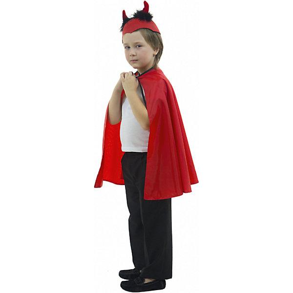 ДьяволКарнавальные костюмы для мальчиков<br>Плащ, ободок; состав: Тафета (100% полиэстер)<br>Ширина мм: 450; Глубина мм: 80; Высота мм: 350; Вес г: 250; Возраст от месяцев: 60; Возраст до месяцев: 72; Пол: Унисекс; Возраст: Детский; Размер: 116; SKU: 7234508;