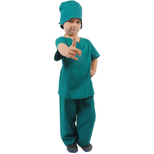 ХирургНовинки для праздника<br>Шапочка, рубашка, брюки; состав: <br>Тиси (75% полиэстер, 35% хлопок)<br><br>Ширина мм: 450<br>Глубина мм: 80<br>Высота мм: 350<br>Вес г: 250<br>Возраст от месяцев: 60<br>Возраст до месяцев: 72<br>Пол: Унисекс<br>Возраст: Детский<br>Размер: 116,128<br>SKU: 7234537