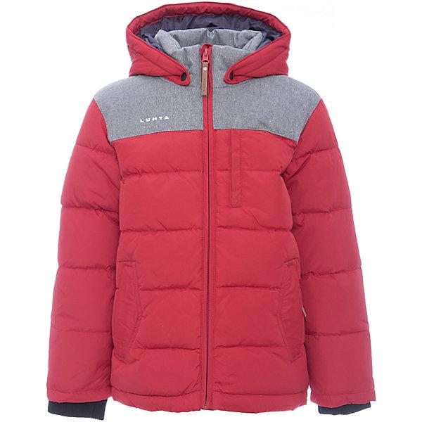 Куртка Luhta для мальчикаОдежда<br>Характеристики товара:<br><br>• цвет: красный<br>• состав ткани: 100% полиэстер<br>• подкладка: 100% полиэстер<br>• утеплитель: 25% пух, 25% перо, 50% искусственный наполнитель<br>• сезон: зима<br>• температурный режим: от -30 до +5<br>• плотность утеплителя: 280 г/м2<br>• капюшон: съемный<br>• застежка: молния<br>• встроенный датчик температуры<br>• страна бренда: Финляндия<br>• страна изготовитель: Китай<br><br>Яркая куртка Luhta для мальчика сделана легкого, но теплого материала. Детской зимняя куртка обеспечит защиту мороза и ветра. Детская куртка для зимы дополнена отстегивающимся капюшоном, планкой от ветра, удобными карманами. Эта куртка для ребенка отличается стильным дизайном. <br><br>Куртку Luhta (Лухта) для мальчика можно купить в нашем интернет-магазине.<br><br>Ширина мм: 356<br>Глубина мм: 10<br>Высота мм: 245<br>Вес г: 519<br>Цвет: красный<br>Возраст от месяцев: 120<br>Возраст до месяцев: 132<br>Пол: Мужской<br>Возраст: Детский<br>Размер: 146,140,134,164,158,152<br>SKU: 7235829