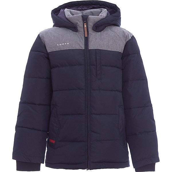 Куртка Luhta для мальчикаОдежда<br>Характеристики товара:<br><br>• цвет: синий<br>• состав ткани: 100% полиэстер<br>• подкладка: 100% полиэстер<br>• утеплитель: 25% пух, 25% перо, 50% искусственный наполнитель<br>• сезон: зима<br>• температурный режим: от -30 до +5<br>• плотность утеплителя: 280 г/м2<br>• капюшон: съемный<br>• застежка: молния<br>• встроенный датчик температуры<br>• страна бренда: Финляндия<br>• страна изготовитель: Китай<br><br>Качественная детская куртка отлично подойдет для зимних морозов. Легкий и теплый материал детской куртки для зимы делает её очень комфортной. Эта теплая куртка для ребенка - с качественным утеплителем. Плотный верх детской зимней куртки легко чистить. <br><br>Куртку Luhta (Лухта) для мальчика можно купить в нашем интернет-магазине.<br><br>Ширина мм: 356<br>Глубина мм: 10<br>Высота мм: 245<br>Вес г: 519<br>Цвет: синий<br>Возраст от месяцев: 96<br>Возраст до месяцев: 108<br>Пол: Мужской<br>Возраст: Детский<br>Размер: 134,164,158,152,146,140<br>SKU: 7235836