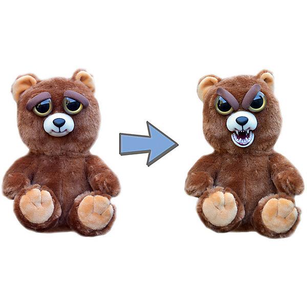 Мягкая игрушка Feisty Pets Бурый медведь, 21,6 смМягкие игрушки животные<br>Бурый медвежонок с изменчивым характером. <br>Если его не трогать он выглядет очень дружелюбно,<br>но если сжать его голову сбоку,  милый мишка<br>проявляет всю свою ярость. <br>Брови зверушки нахмуриваются, появляется злобный рык,  <br>а дружелюбная улыбка превращается во враждебный оскал.<br>Ширина мм: 127; Глубина мм: 216; Высота мм: 127; Вес г: 230; Возраст от месяцев: 36; Возраст до месяцев: 2147483647; Пол: Унисекс; Возраст: Детский; SKU: 7236934;