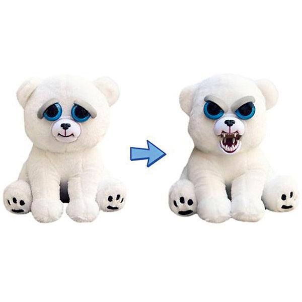 Мягкая игрушка Feisty Pets Белый медведь, 21,6 смМягкие игрушки животные<br>Белый арктический мишка с изменчивым характером. <br>Если его не трогать он выглядет очень дружелюбно,<br>но если сжать его голову сбоку,  милый медвежонок<br>проявляет всю свою ярость. <br>Брови зверушки нахмуриваются, появляется злобный рык,  <br>а дружелюбная улыбка превращается во враждебный оскал.<br>Ширина мм: 127; Глубина мм: 216; Высота мм: 127; Вес г: 230; Возраст от месяцев: 36; Возраст до месяцев: 2147483647; Пол: Унисекс; Возраст: Детский; SKU: 7236938;