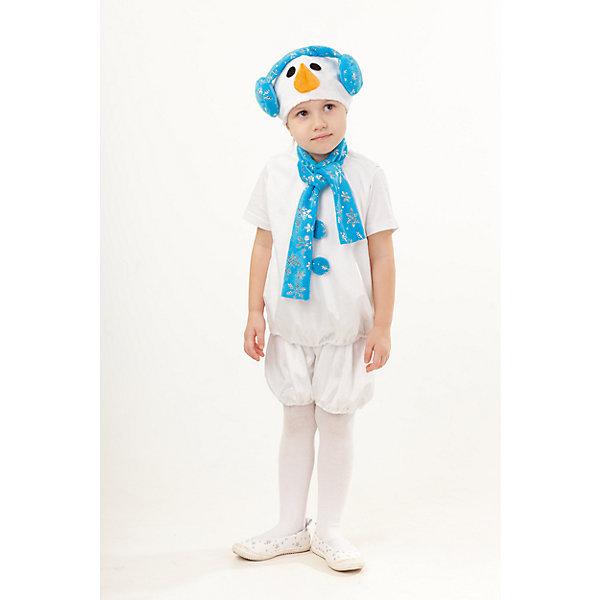 4011 к-18 Костюм Снеговик КрошКарнавальные костюмы для мальчиков<br>Верх 100% полиэстер; подклад: 35% хлопок+65%полиэстер Милый карнавальный костюм для мальчиков Снеговик Крош выполнен из мягкого плюша белоснежного цвета. В комплект входит безрукавка с шарфиком, шорты на резинке. Завершает образ Снеговичка маска-шапка с набивным носом-морковкой и объемными наушниками.<br><br>Ширина мм: 450<br>Глубина мм: 80<br>Высота мм: 350<br>Вес г: 250<br>Возраст от месяцев: 48<br>Возраст до месяцев: 60<br>Пол: Унисекс<br>Возраст: Детский<br>Размер: 110<br>SKU: 7238704