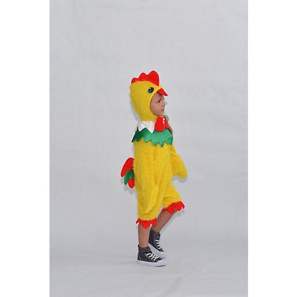 908 к-17 Костюм ПетушокКарнавальные костюмы для мальчиков<br>Верх 100% полиэстер; подклад: 35% хлопок+65%полиэстер Карнавальный костюм Петушок из мохнатого желтого плюша. Комбинезон с воротником ярко зеленого цвета, застегивается по спинке на молнию, рукава выполнены как крылышки. Шапка с красным хохолком, с глазками и клювом.<br>Ширина мм: 450; Глубина мм: 80; Высота мм: 350; Вес г: 250; Возраст от месяцев: 36; Возраст до месяцев: 48; Пол: Унисекс; Возраст: Детский; Размер: 104; SKU: 7238724;