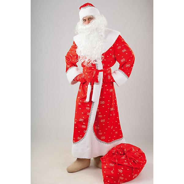 919 к-17 Костюм Дед МорозКарнавальные костюмы для мальчиков<br>100% полиэстер Нарядный костюм Дед Мороза выполнен из плюша. Шуба с отделкой из искусственного белоснежного меха.  Обязательные атрибуты костюма борода, шапка, варежки и мешок.<br><br>Ширина мм: 450<br>Глубина мм: 80<br>Высота мм: 350<br>Вес г: 250<br>Возраст от месяцев: 48<br>Возраст до месяцев: 60<br>Пол: Мужской<br>Возраст: Детский<br>Размер: 110<br>SKU: 7238744