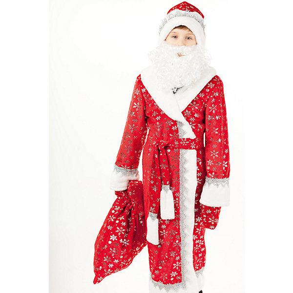 920 к-17 Костюм Дед МорозКарнавальные костюмы для мальчиков<br>Характеристики товара:<br><br>• возраст: от 8 лет;<br>• в комплекте: шуба, шапка, борода, пояс, мешок, варежки;<br>• состав: 100% полиэстер;<br>• назначение: для праздника;<br>• размер упаковки: 45х8х35 см;<br>• вес: 0,25 кг.;<br>• страна-производитель: Россия.<br><br>Карнавальный костюм Деда Мороза выполнен из плюша, украшенного серебряными снежинками. Шуба с отделкой из искусственного белоснежного меха.  Обязательные атрибуты костюма борода, шапка, варежки и мешок.<br><br>Костюм «Дед Мороз» можно купить в нашем интернет-магазине.<br><br>Ширина мм: 450<br>Глубина мм: 80<br>Высота мм: 350<br>Вес г: 250<br>Возраст от месяцев: 96<br>Возраст до месяцев: 108<br>Пол: Мужской<br>Возраст: Детский<br>Размер: 134,146<br>SKU: 7238746