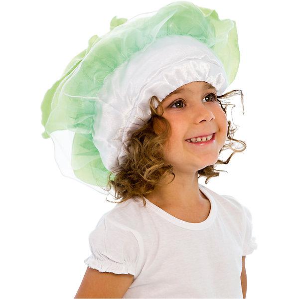 Шапочка КапустаДетские шляпы и колпаки<br>Шапочка<br><br>Ширина мм: 450<br>Глубина мм: 80<br>Высота мм: 350<br>Вес г: 50<br>Возраст от месяцев: 60<br>Возраст до месяцев: 108<br>Пол: Унисекс<br>Возраст: Детский<br>SKU: 7238874