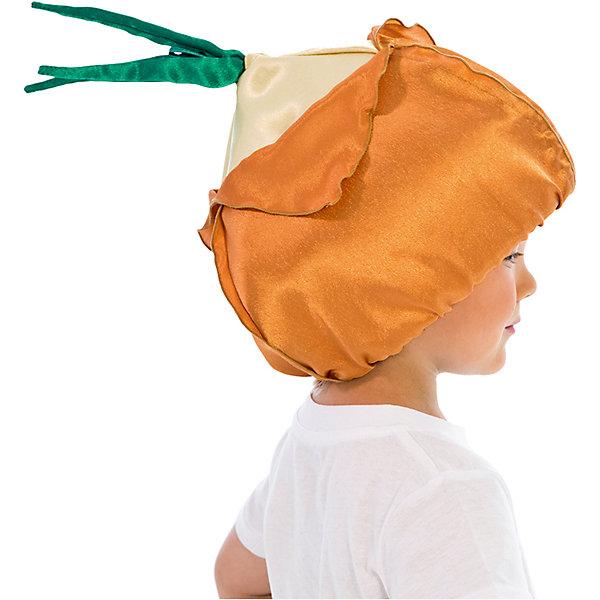Шапочка ЛукДетские шляпы и колпаки<br>Характеристики товара:<br><br>• цвет: оранжевый<br>• материал: текстиль<br>• сезон: круглый год<br>• особенности модели: для праздника<br>• страна бренда: Россия<br>• страна изготовитель: Россия<br><br>Такая шапка в виде лука комфортно сидит на голове благодаря резинке. Шапка для ребенка - полноценный наряд для праздника или сценки. Карнавальная шапка для детей сделана из синтепона и крепсатина, подкладка - из хлопка. <br><br>Шапочку Лук Вестифика можно купить в нашем интернет-магазине.<br><br>Ширина мм: 450<br>Глубина мм: 80<br>Высота мм: 350<br>Вес г: 50<br>Возраст от месяцев: 60<br>Возраст до месяцев: 108<br>Пол: Унисекс<br>Возраст: Детский<br>SKU: 7238879